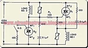 Simple Ac Static Single Pole Double Throw Switch Circuit