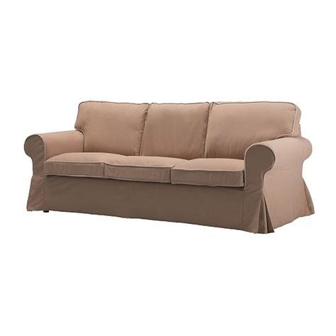 slip cover sofas ikea ektorp 3 seat sofa slipcover cover idemo beige w piping