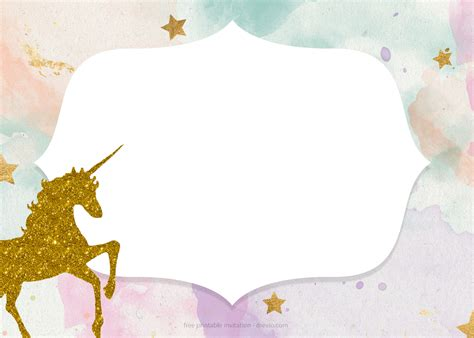 unicorn baby shower invitation templates