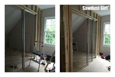 install  pocket door frame sawdust girl