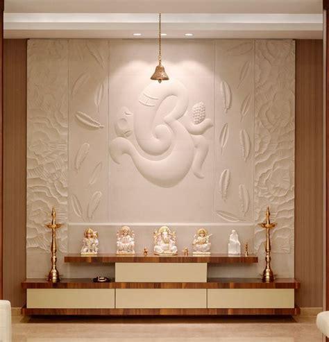 interior design  pooja room wall units pooja room