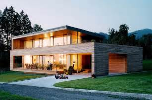 contemporary kitchen interiors austrian wooden houses timber clad inside and out