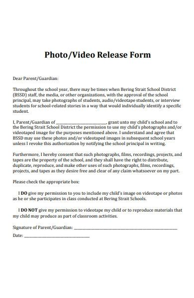 FREE 35+ Photo Release Form in PDF   MS Word