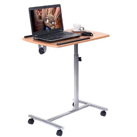 bureau pour pc portable bureau a roulettes pour pc portable