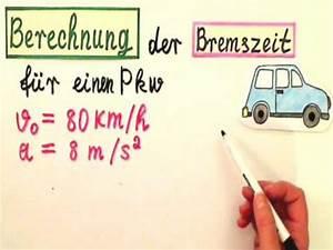 Rz Berechnen : bremszeit berechnen so wird es gemacht youtube ~ Themetempest.com Abrechnung