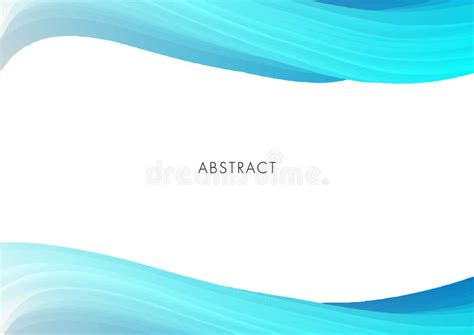 light blue and white curve modern abstract background vector stock vector illustration of wave