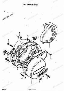 Suzuki Motorcycle 1974 Oem Parts Diagram For Crankcase
