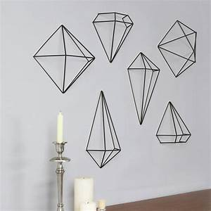 Décoration Murale En Métal : prisma wall decor set of 6 black madame fancy pants ~ Dailycaller-alerts.com Idées de Décoration