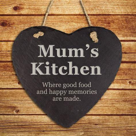 personalised mums kitchen hanging slate keepsake treat