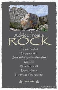 advice from a rock frameable postcard your true