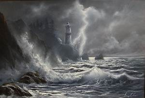 Pin Lighthouse-and-storm-1440-x-900 on Pinterest