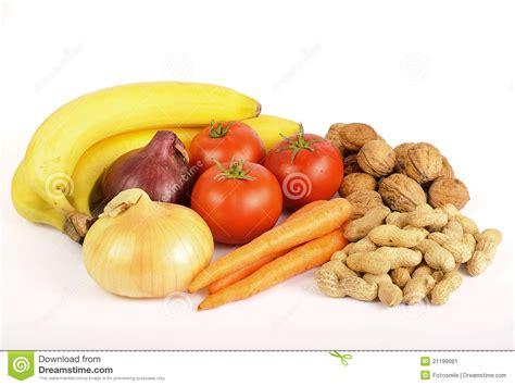 healthy food vegetables fruit  nuts stock image