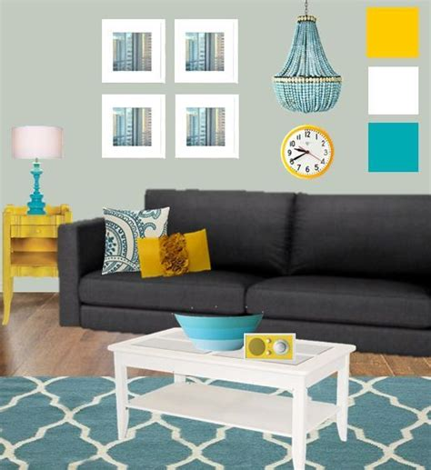 Yellow Grey Living Room Images by Living Room Moodboard With Teal And Yellow We Could Think