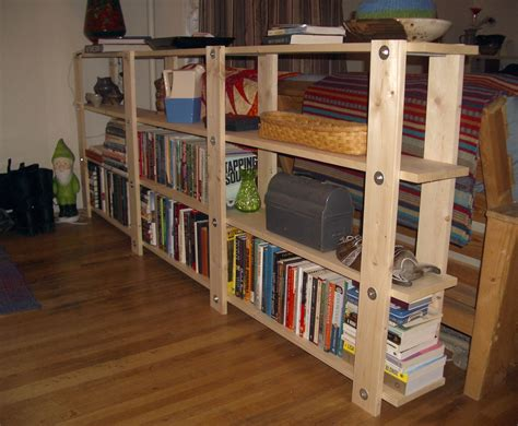 building a bookcase wall cheap easy low waste bookshelf plans