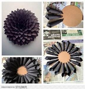 DIY: paper flower wall decor ideas Pinterest