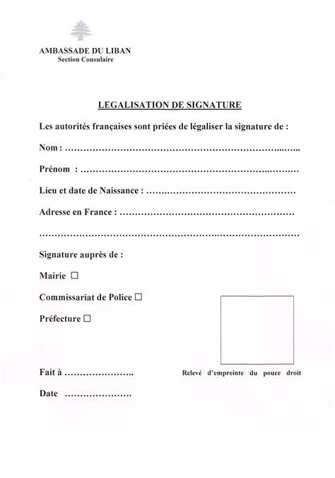 Renouvellement Titre De Sejour Parent D Un Français by Ambassade Du Liban