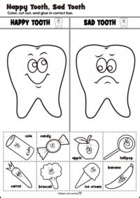 happy tooth sad tooth activity community helpers