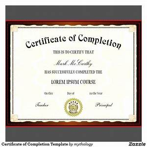 Free Certificate Template Blank Certificates Of Completion Mughals