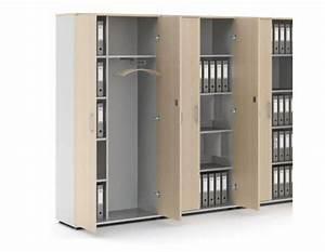 Meuble Bureau Rangement : photo armoire de rangement bureau en bois ~ Teatrodelosmanantiales.com Idées de Décoration