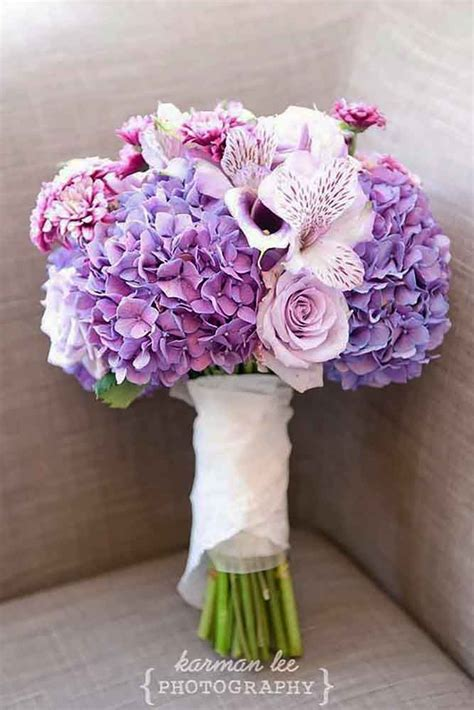 30 Purple And Blue Wedding Bouquets Purple Wedding