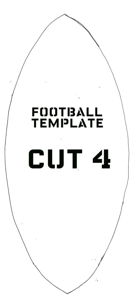 football template printable football softie template andrea s notebook