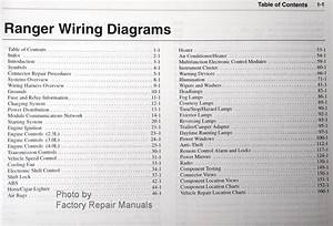 2002 Ford Ranger Electrical Wiring Diagrams Original Factory Manual