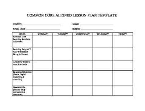 Danielson Lesson Plan Template Nyc Costumepartyrun