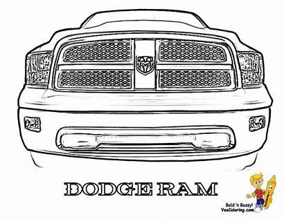 Dodge Ram Coloring Truck Clipart Sheet Pages