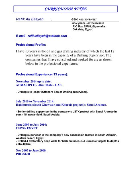 Offshore Resume Sourcing by Directional Drillers Resume
