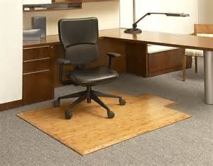 bamboo office chair mat and floor protector