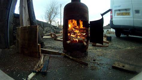 outdoor propane burner pot belly gas bottle woodburner a