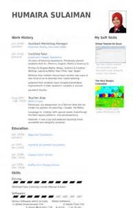 resume for assistant brand manager assistentin marketing manager cv beispiel visualcv