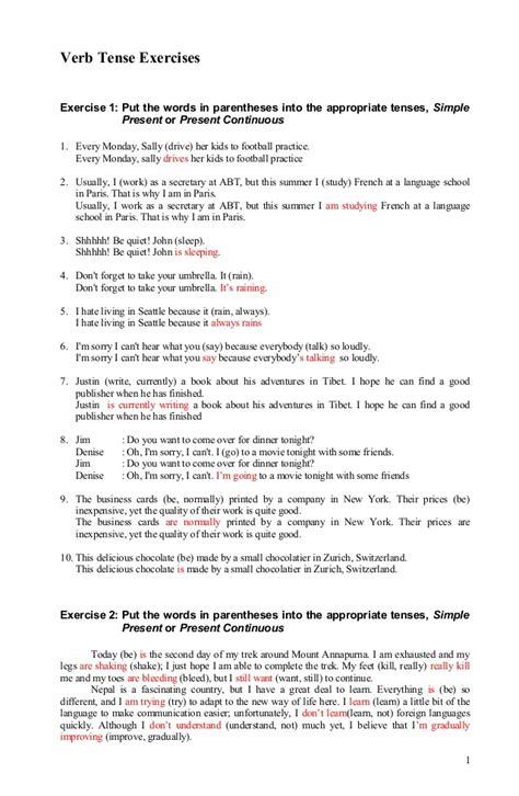 tenses review worksheet tenses worksheet