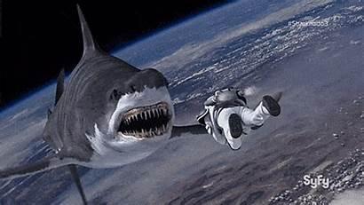 Sharknado Space Animated Syfy Gifs Wars Hell