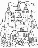 Coloring Castle Pages Pdf Printable Adults sketch template