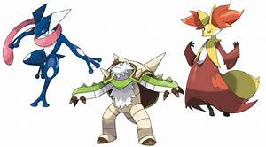 Chesnaught Delphox and Greninja Leaked - PokEdit News