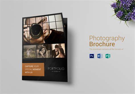 photography brochure bi fold design template  psd word