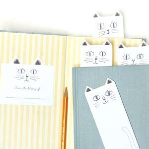 cat printable bookmarks  printables