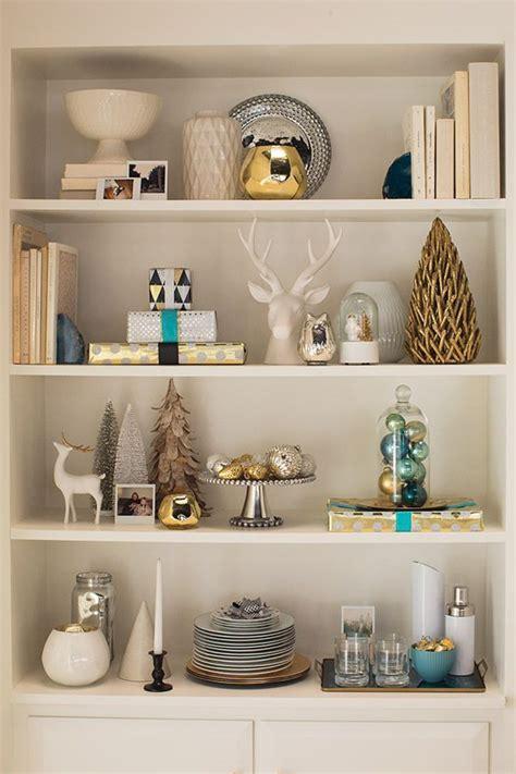 christmas shelf decorating home decoration ideas home