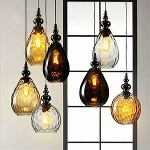 Nordic Modern E27 LED Glass Light Chandelier Loft Fixture ...