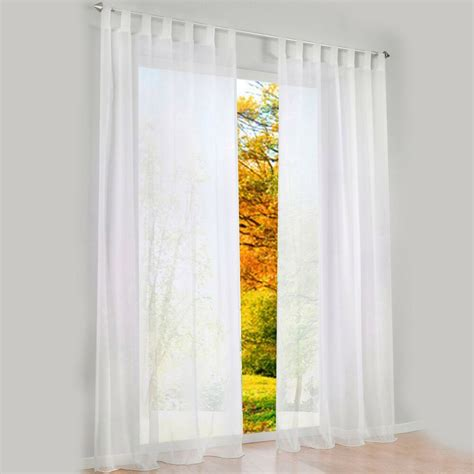 pcs sheer curtain blackout curtains  bedroom ebay