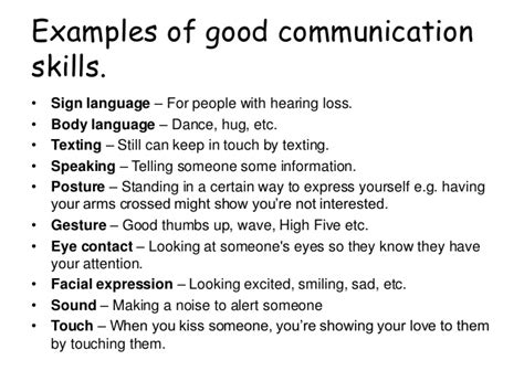 Demonstrate Communication Skills In Resume by Verbal And Non Verbal Communication Skills
