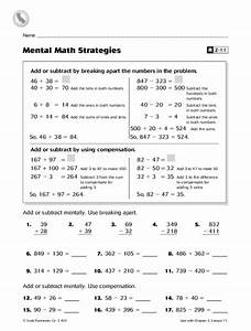 Mental Math Strategies Worksheet For 3rd