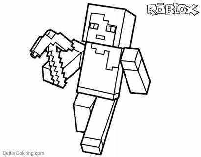 Roblox Coloring Pages Minecraft Printable Characters Sheet
