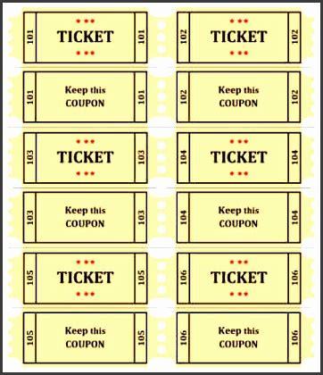 simple raffle ticket template sampletemplatess