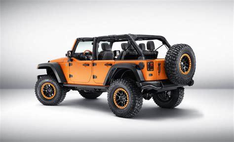 jeep wrangler orange 2017 jeep wrangler sunriser concept is hellaciously orange