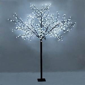 Large decorative cool white sakura tree light with 600 for Cherry tree floor lamp