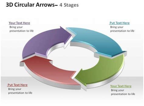 circular arrows process smartart  stages