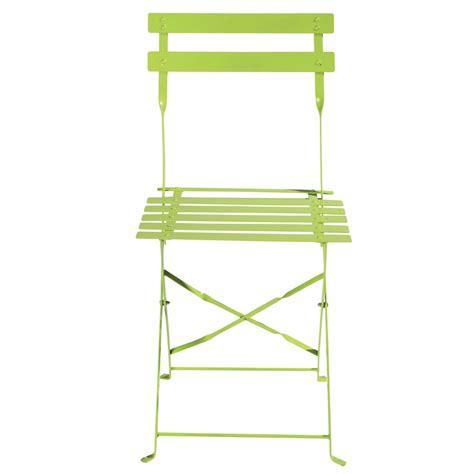 chaises de jardin pliantes 2 chaises pliantes de jardin en métal anis confetti