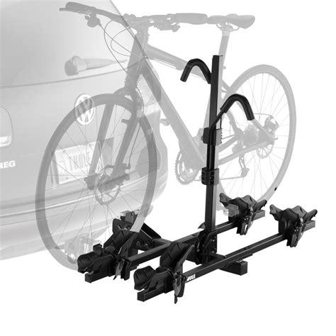 thule bike racks thule 174 doubletrack pro hitch mount bike rack